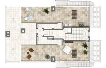 Plano piso vivienda obra nueva en santa pola - alicante